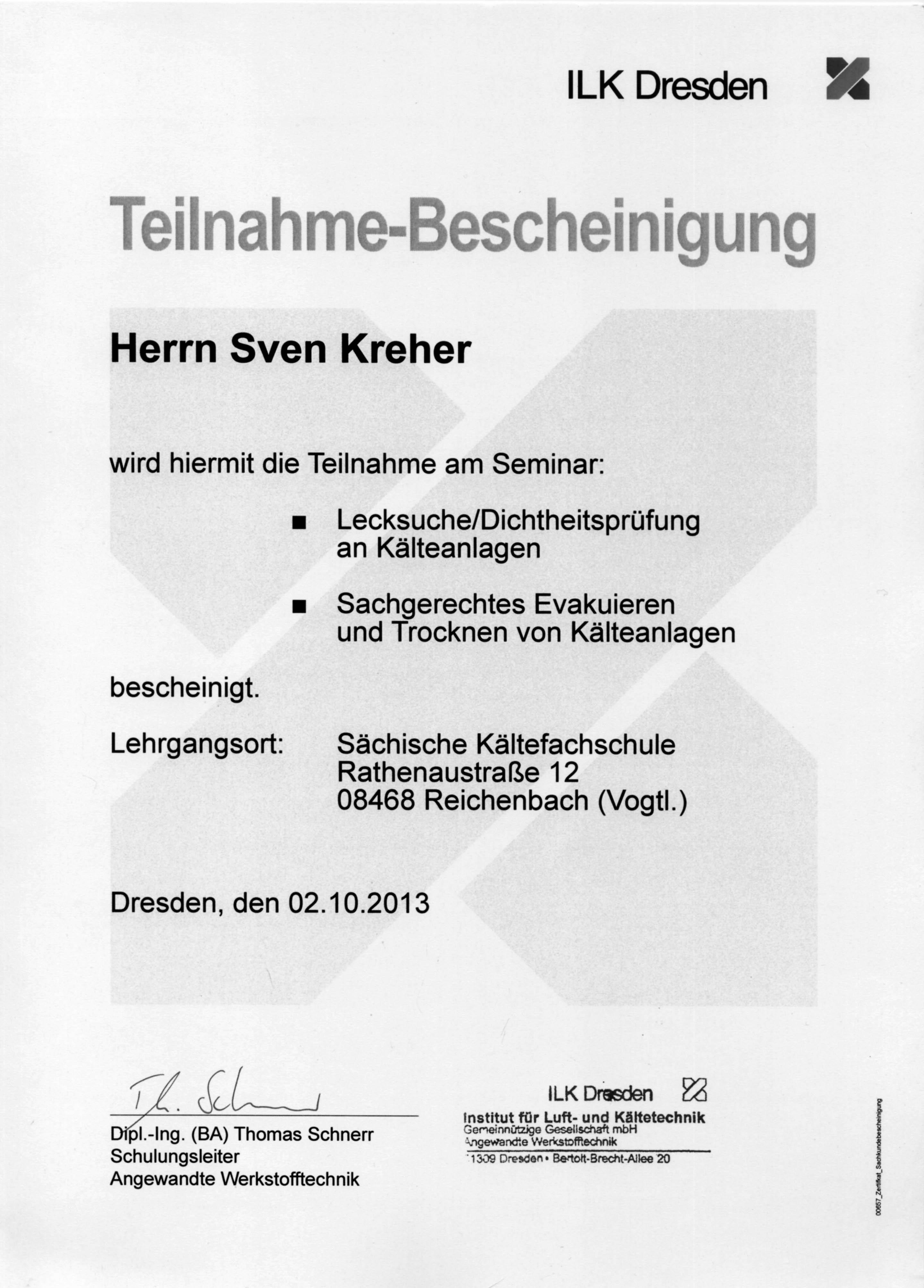 Seminar Lecksuche Sven Kreher