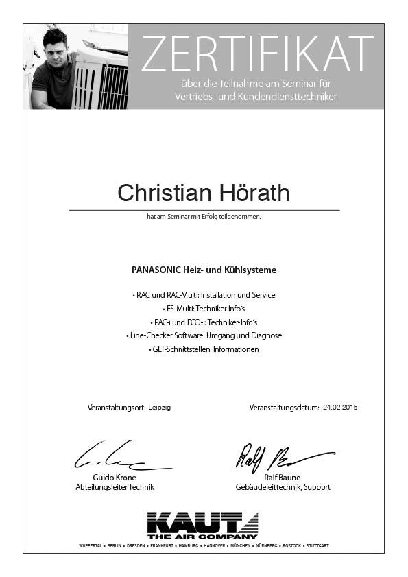 Vertriebs und Kundendiensttechniker Christian Hörath